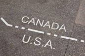 U.S. and Canadian border