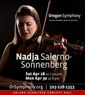 Nadja's performance flyer