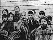 Children at a concentration camp