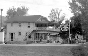 This picture shows a old ESSO station where Robert would have delivered gasoline.