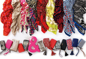 Scarves & wallets for the non-jewelry gal