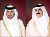 الشيخ تميم بن حمد الثاني و الشيخ الوالد حمد بن خليفه الثاني
