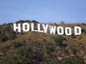 Por el letrero de Hollywood