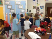 Scavenger Hunt to become acquainted with our classroom