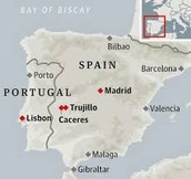 Map of Trujillo Spain