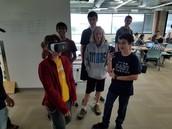 Hirsch demonstrating VR