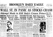 Article on the stock market crash.