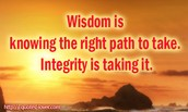 Week of May 25th -Integrity
