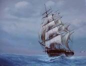 A trading ship