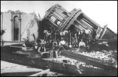 Damage in Santa Rosa.