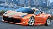 A orange Ferrari
