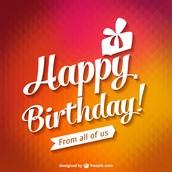 Q3 Birthdays