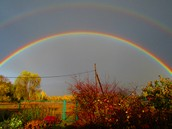 Miracle! Two rainbows in Autumn.