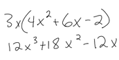 Multiplying a nonomial by a polynomial