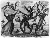 Political Cartoon of what makes Jackson a Villian