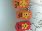 Star Student Dog Tags