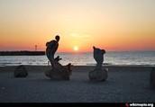 שקיעה בחוף המרינה