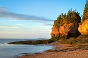 Le parc des rochers Hopewell Rocks