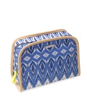 Blue Ikat beauty Bag