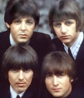 All the Beatles with there bowl head hair cuts