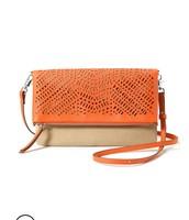Waverly Petite- Orange/Linen $45