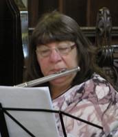 Sharon on flute