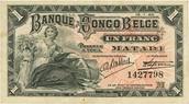 L'argent utilise avant au Congo Belge.