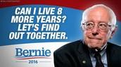 Look at that cute shirt on Bernie