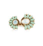 Zinnia split ring, £35