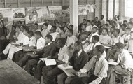 A school room at Tuskegee Institute