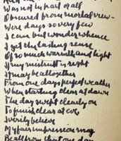 One of Robert Frost's handwritten poems.