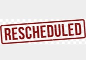 REVISED: Wednesday staff meeting rescheduled