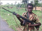 A young boy soldier