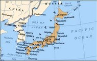 Japan is located off the coast of China.