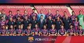 The team of Barcelona for the match