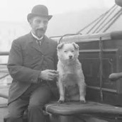 Titanic passenger with his dog