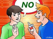 "Example of saying ""NO"" to negative peer pressure"