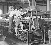 Children fixing the machines