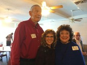 Lions Club meeting with Johnnie's daughter, Mary Lou, and her husband, Archie