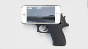 Gun-shaped phone case