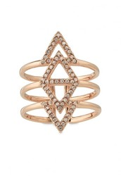 Pave Spear Ring - Rose Gold