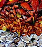 Seafood options are plentiful!