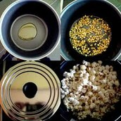 סירים בעלי שטח פנים שונה בהם יש אותו מספר של גרגירי תירס המתבשלים בחום זהה