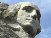 George's face on Mount Rushmore