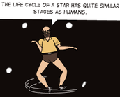 How is a Human Life Cycle Like a Stars?