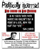 Join Peter Gill in a wonderful performance of Tom Lehrer's cutting satirical songs