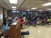 Jazz Band performing before school.
