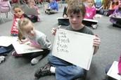 Practicing Spelling Words