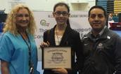 CTE Student of the Year - Irina Staszweski of AMS
