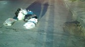 La basura que es acumulada por los recolectores de basura